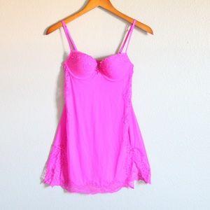 Victorias Secret Hot Pink Push Up Lingerie 34B